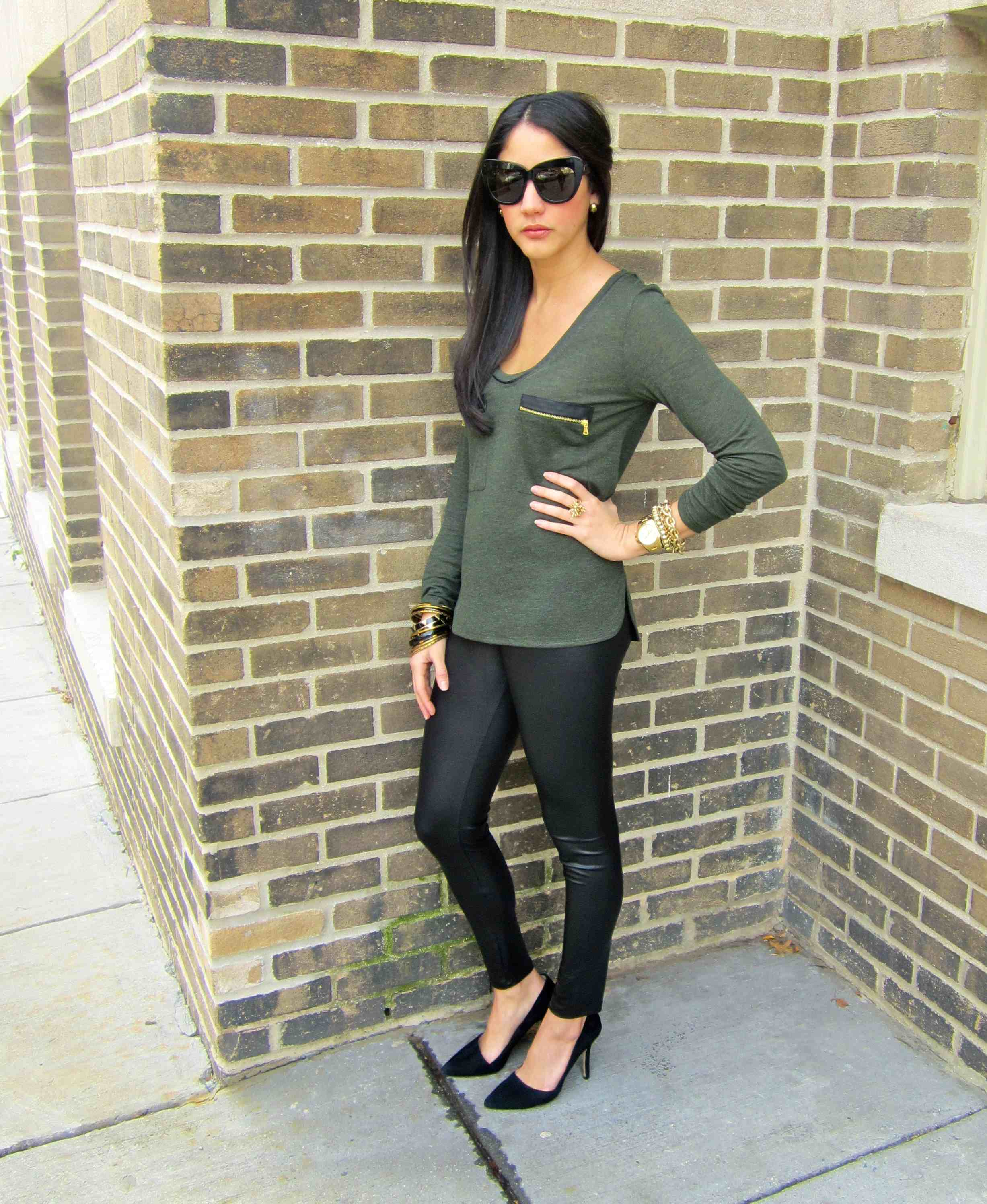 Nordstrom Leather Leggings Baggage Clothing