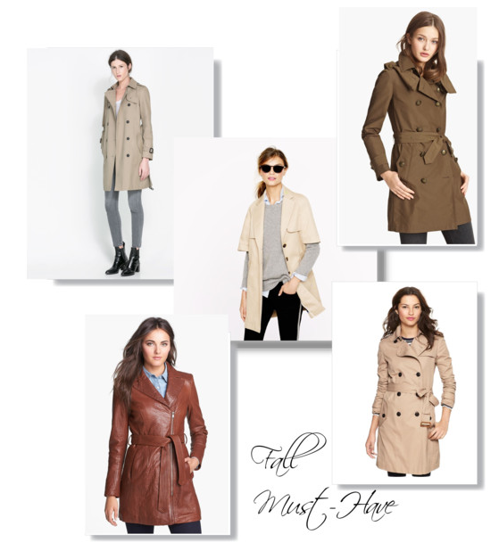fashion insider fall must have trench coats maria on point. Black Bedroom Furniture Sets. Home Design Ideas