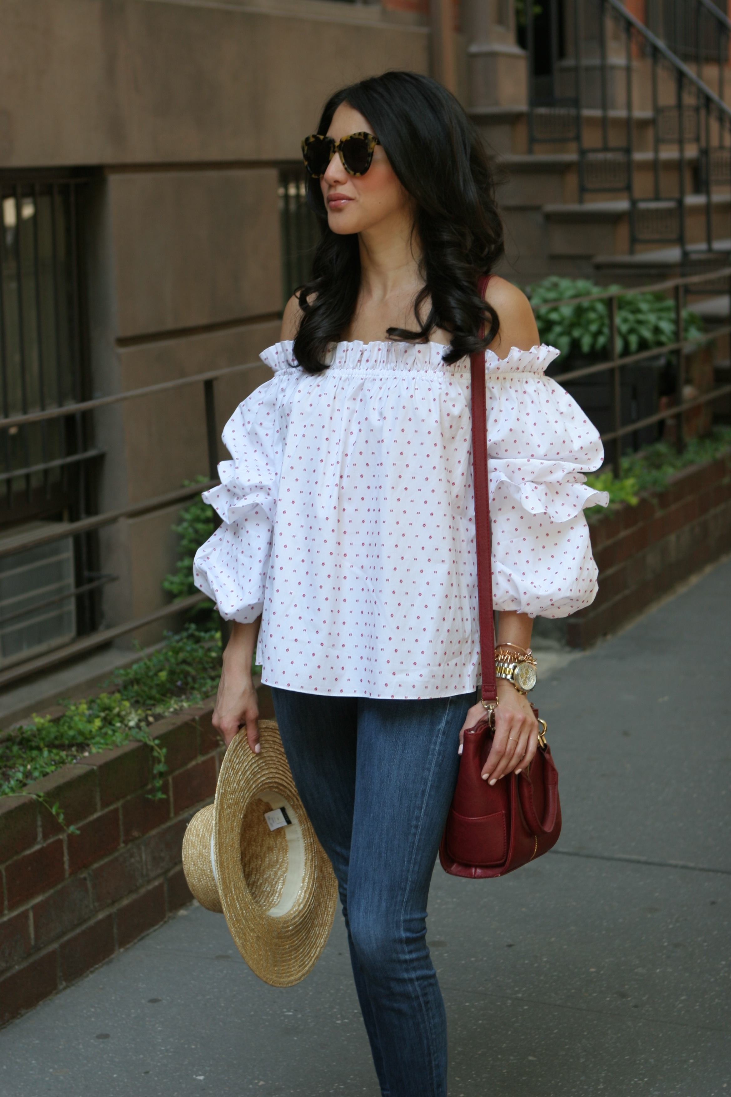0d5b9ced2604 Off the Shoulder Ruffle Top – Maria On Point