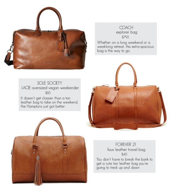 Splurge vs Steal: Weekend Leather Bag – Maria On Point
